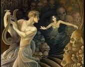 Orpheus and Eurydice Greek Mythology 11x14 Fine Art Print