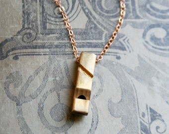 Miniature Whistle Necklace / Gift