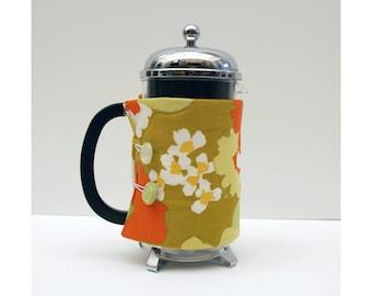 Bodum French Press Coffee Cozy - 1970 Flower Style -