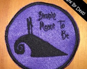 Nightmare Before Christmas Simply Meant To Be Jack and Sally Patch