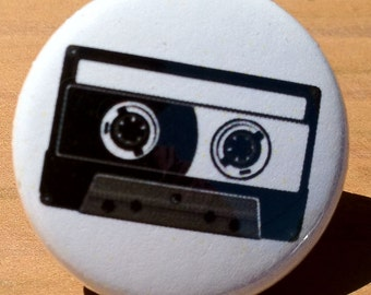Cassette tape - Button, Magnet, Bottle Opener (3 sizes, 5 colors)