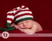 Sweet Baby Hat - Santa Christmas - newborn to six months