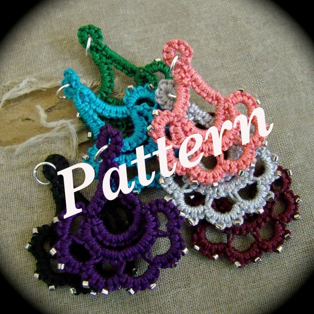 Pdf Tatting Pattern Special Occasion Pendant Or Earrings