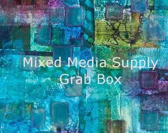 Mixed Media Art Supply Grab Box - FREE SHIPPING