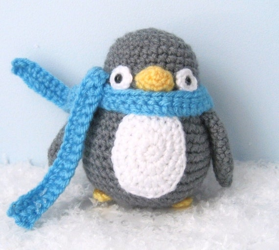 Knitted Penguins Free Patterns : Amigurumi Crochet Penguin Pattern Digital Download