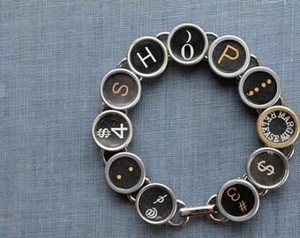 TYPEWRITER Key BRACELET Jewerly Made with Typewriter Keys SHOP