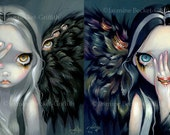 Divine Hand & Speak No Evil set of TWO 8x10 art prints by Jasmine Becket-Griffith SIGNED