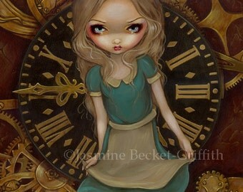 Alice in Clockwork steampunk wonderland fairy art print by Jasmine Becket-Griffith 8x10