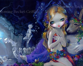 "A Midsummer Night's Dream shakespeare fairy art print by Jasmine Becket-Griffith 7.25""x10.75"""
