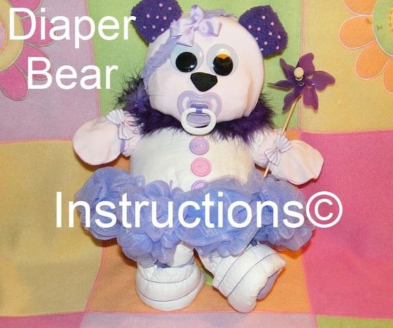 Diaper Bear Instructions Diaper Cake Topper 4 By