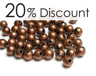 BDBAC-rd30 - Bead, Round, 3mm, Antique Copper - 500 Pieces (5pk)