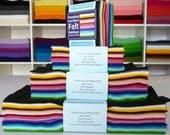 "9"" Premium Wool Blend Felt rainbow stack"