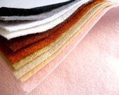 "NATURALS Premium Wool Blend Felt Pack 10x  6"" squares"