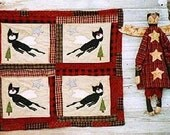 Mini Cat Quilt Pattern EPattern  Black Cat Angel Doll PDF Wall Hanging Christmas Tree Topper by Hickety Pickety 063