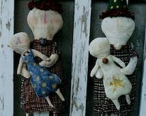 Christmas Snowman Doll Pattern Primitive Snowmen EPattern PDF Raggedy Ann Folk Art Folkart  by Hickety Pickety 115