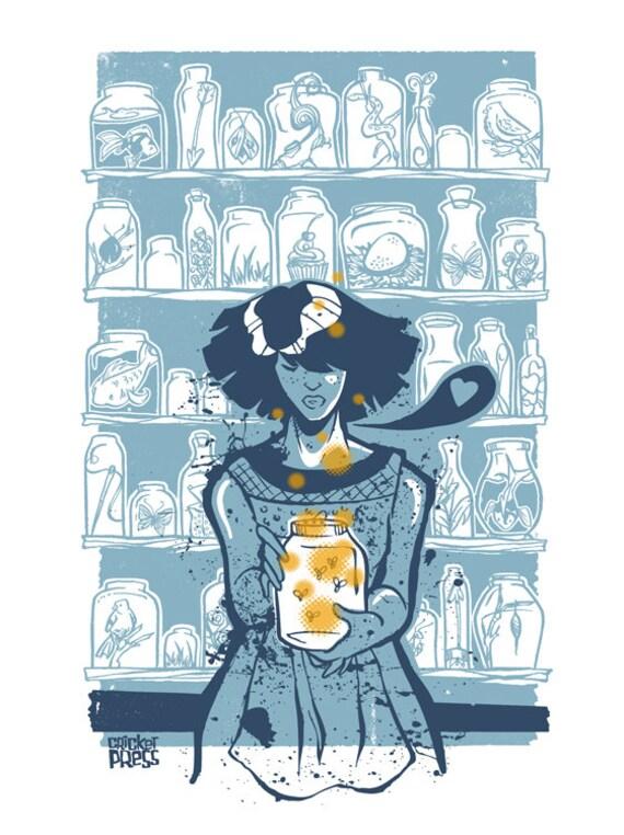 The Collection  - mini screenprinted art print