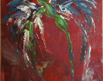 Original Acrylic Painting on Canvas - Show Your Colors Winged Woman
