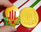 Christmas Candles Flexible Mold  Mould For Resin Paper Clay Sculpey Fimo Polymer Premo Wax Chocolate  H240
