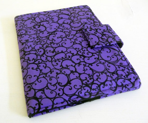 NookTouch, Nook Glow Cover - Purple and Black Scrolls