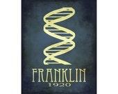Rosalind Franklin 16x20 Science Art Print, Scientinst Poster, Steampunk Art Double Helix DNA Rock Star Scientist, Physics School Art Geek