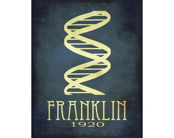 Rosalind Franklin 16x20 Science Art Print, Scientinst Poster, Steampunk Art Double Helix DNA Rock Star Scientist, Physics School Art Geek