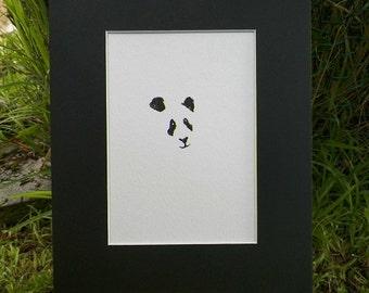 Panda Bear Minimalist Watercolor Art Original Painting Animal Sketch Illustration by Artist debra alouise No. 2
