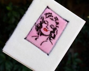 Marilyn Monroe Blank Greeting Card Velvet