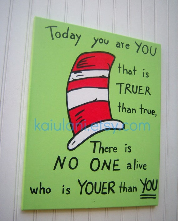 Marvelous Items Similar To Dr. Seuss Cat In The Hat Kids Wall Art ..