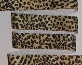 Leopard Grosgrain Ribbon Cheetah Black Light Gold 5 yards 1 1/2 inch wide cbonefive