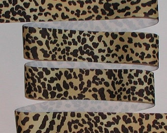 Leopard Grosgrain Ribbon Cheetah Black Light Gold 5 yards 1 1/2 inch wide cbonefive