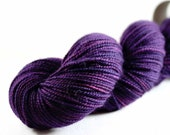 BLACKCURRANT superwash merino High Twist sock Free U.S. Shipping