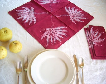 sugarplum red napkins