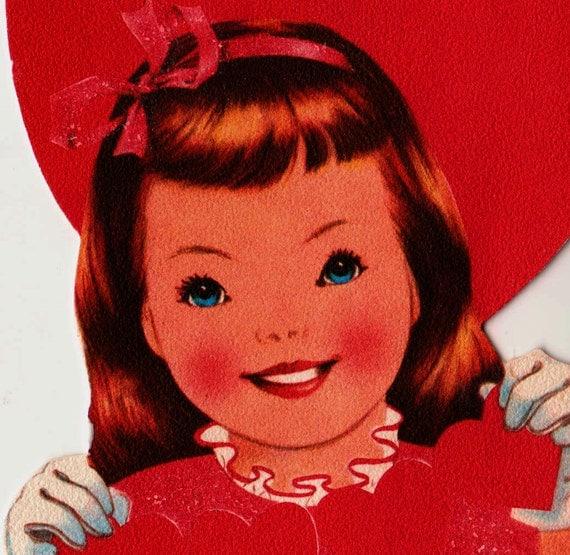 Vintage Lots of Love Sister Valentines 1950s Greetings Card (B2)