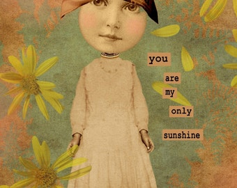 Original digital collage ephemera altered art vintage digital collage sheets digital print supplies only sunshine