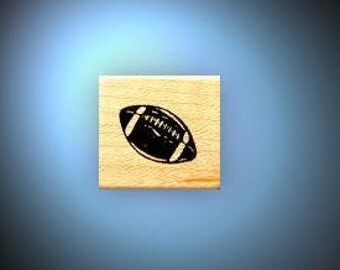 Football mounted rubber stamp, sports, Super Bowl, masculine, Sweet Grass Stamps No.14