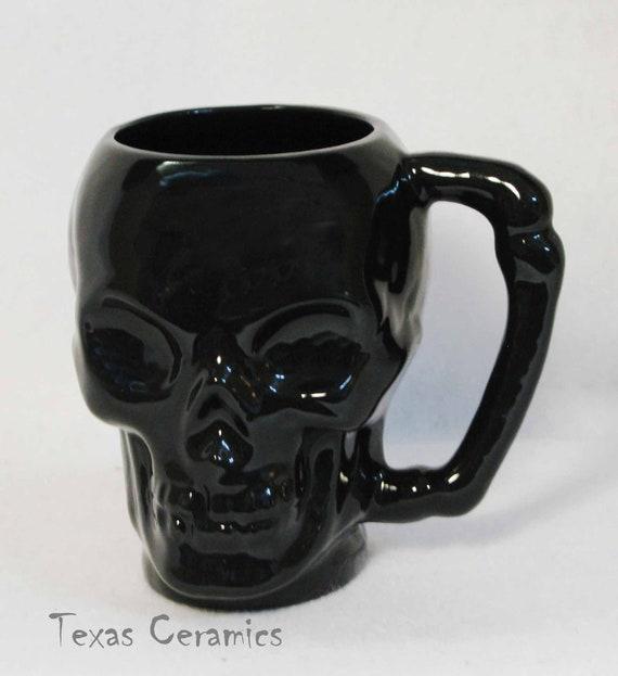 Ceramic Cups Ideas Ceramic Black Skull Mug or Cup