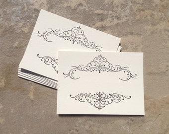 Letterpressed Decorative Frame No.04 Card Set