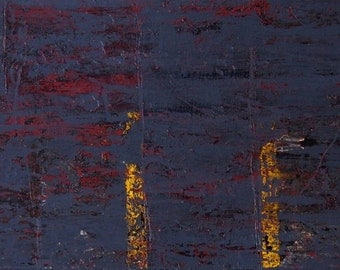 ORIGINAL Painting - 'Falling Into Place' - Abstract Texture (112 x 38cm) - Acrylic and Enamel Paint and Bitumen on Recycled Aluminum