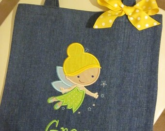 TOTE BAG Disney Fairy Tinkerbell Personalized Toddler or Big Kid Tote