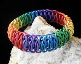 Danute - Viperscale Progressive Rainbow Bracelet