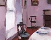 Art Print Living Room Chair Antique Purple - Violet by David Lloyd