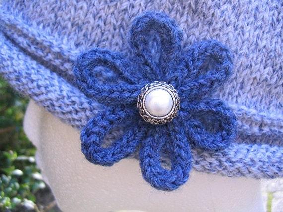 Flapper Style Cloche Hat Knitting Pattern - PDF