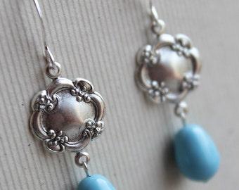 Lila Earrings - Silver Plated - Swarovski Pearls