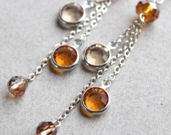 Bronwyn Earrings - Swarovski and Sterling Silver