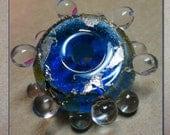 Blue Lampwork Bead Handmade in Connecticut
