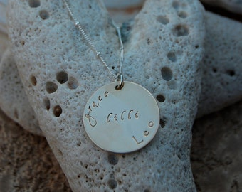 Custom Gold Filled and Sterling Mother's Necklace