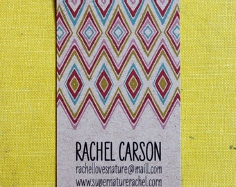 Friendship Calling cards on Kraft-Vertical