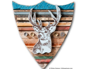 Trophy Deer Faux Taxidermy Mounted Deer Head