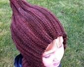 Knit Child Balaclava Hoodie Hat - HERSHEY KISS, Waldorf inspired, wool