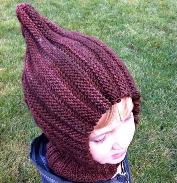Knit Child Balaclava Hoodie Hat HERSHEY KISS Waldorf